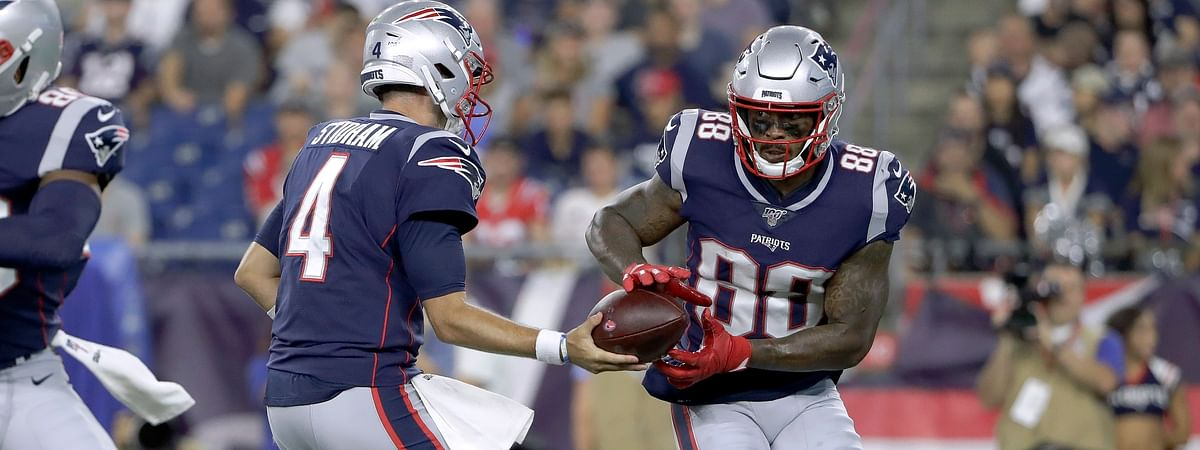 A person with direct knowledge of the deal says the New York Jets have acquired wide receiver Demaryius Thomas from the New England Patriots for a 2021 sixth-round draft pick. The person spoke to The Associated Press on condition of anonymity Tuesday, Sept. 10, 2019 because the teams had not yet announced the trade. (AP File Photo/Steven Senne)