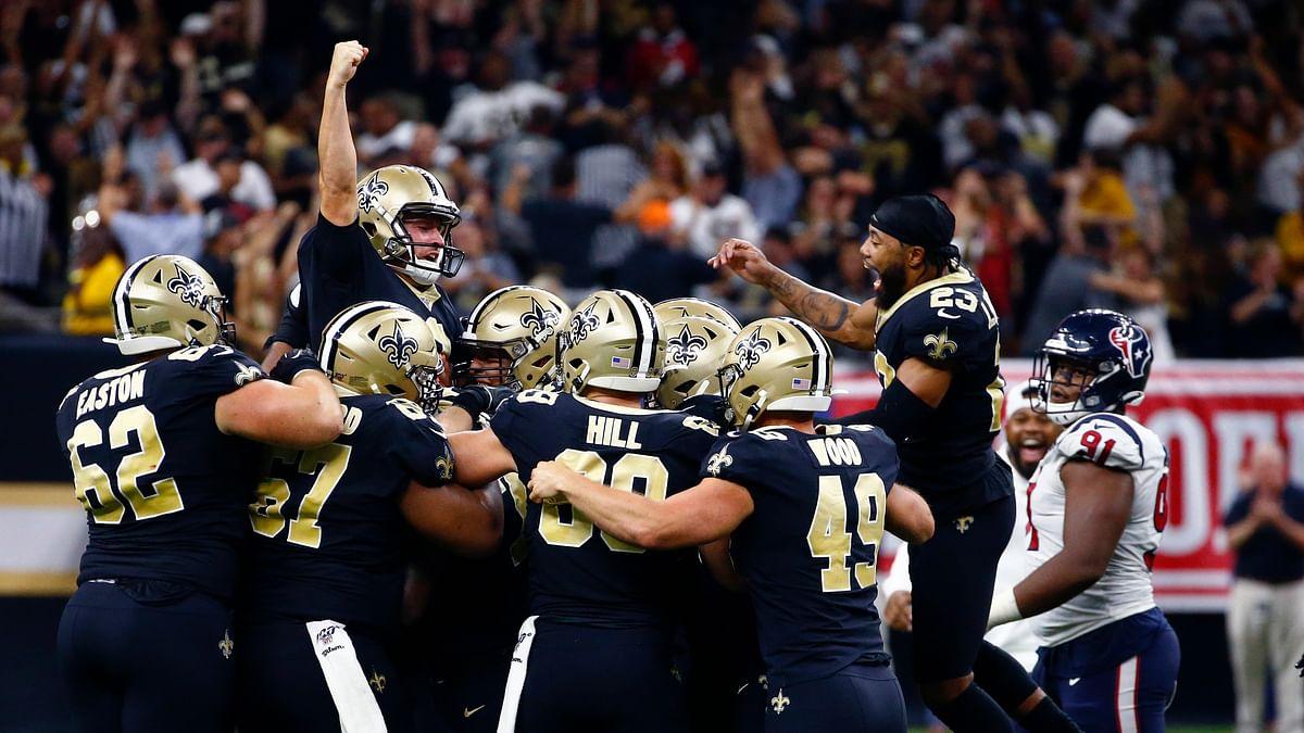 New Orleans Saints edge Houston Texans on Wil Lutz's walk-off field goal