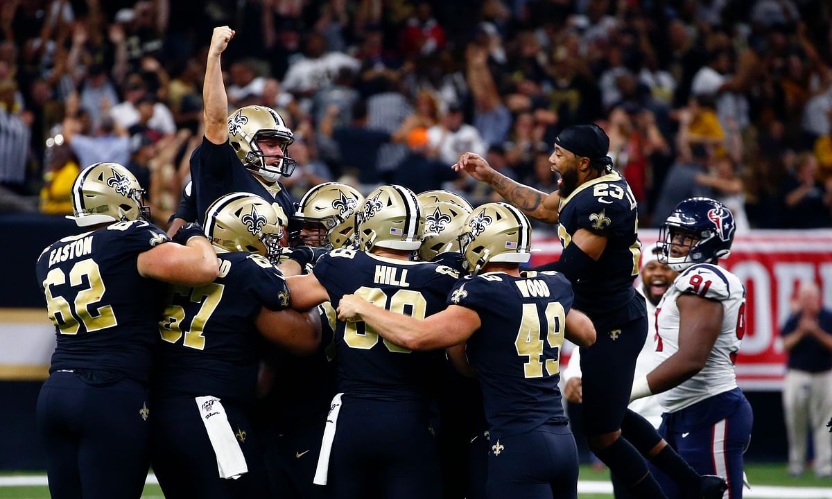 New Orleans Saints edge Houston Texans on Wil Lutz's walk-off field goal