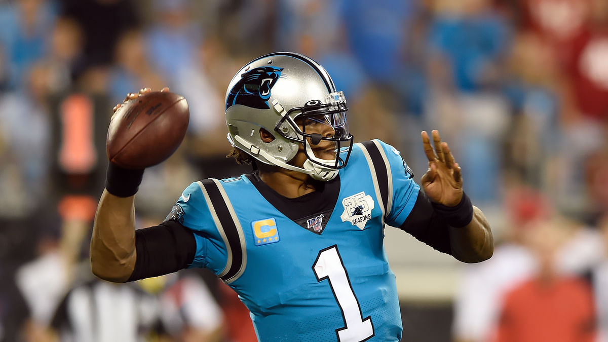 Cam Newton sits out Carolina Panthers practice after re-aggravating foot injury — may miss game against Arizona Cardinals