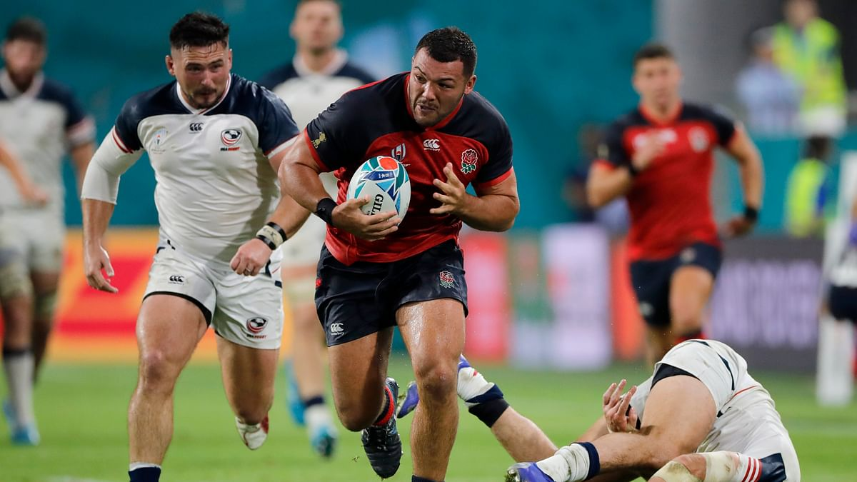 Rugby World Cup: England mauls USA 45-7; Americans also get first red card of tourney