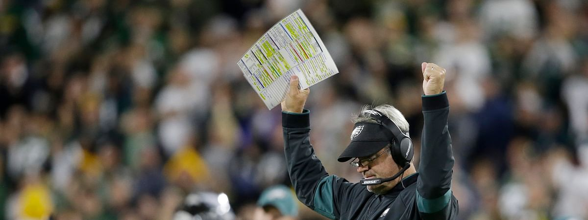It seems Eagles Pederson (shown during the Sept. 26 Packers game) has committed to Jordan Howard as his main running back (Jeffrey Phelps)