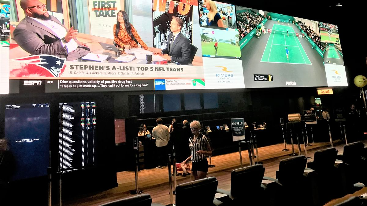 The SugarHouse-to-Rivers rebranding includes the opening of the $5 million BetRivers sports book