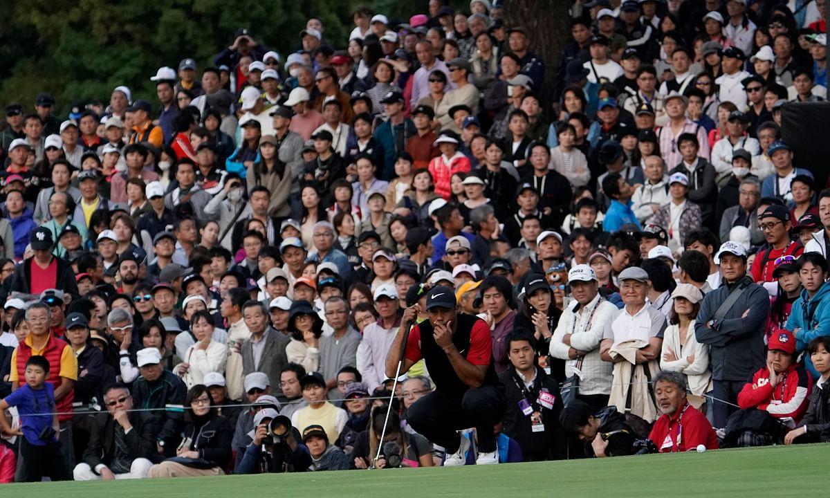 Golf: Tiger Woods 3-strokes ahead of Hideki Matsuyama at Zozo Championship