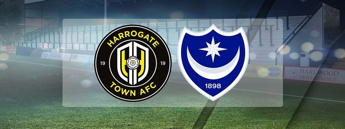 Harrogate Town vs Portsmouth compete for the FA Cup