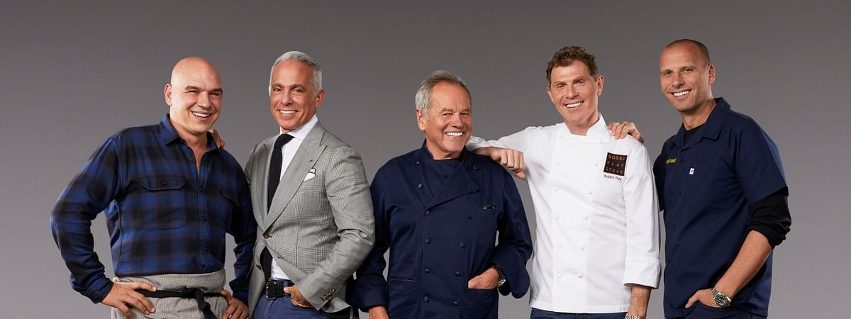 Borgata chefs (from left) Michael Symon, Geoffrey Zakarian, Wolfgang Puck, Bobby Flay and Michael Schulson are among the headliners at this year's Savor Borgata food-and-drink festival.
