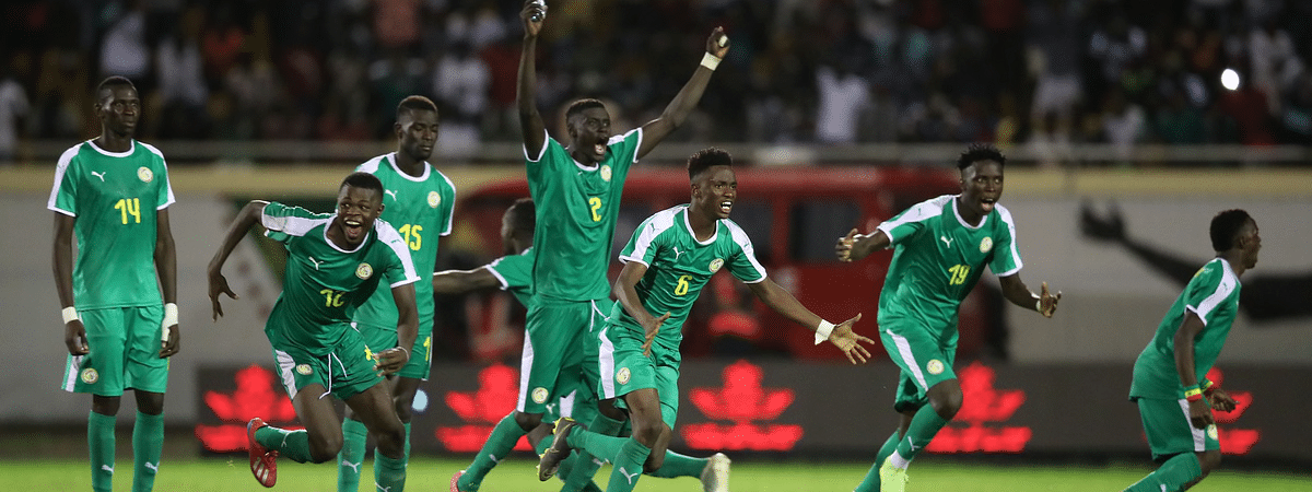Senegal celebrates their win over Ghana in the 2019 WAFU Cup of Nations