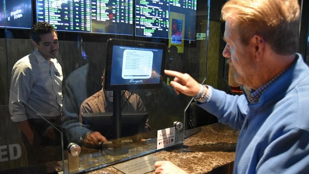 Philadelphia sportscaster Howard Eskin places New Jersey's  first legal esports bet Thursday afternoon at Borgata.