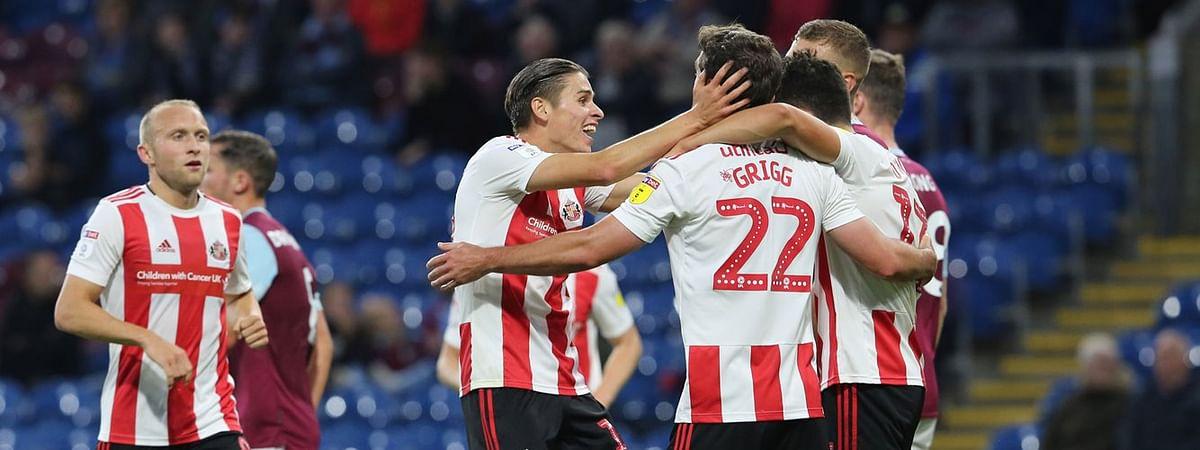 Sunderland celebrates a goal