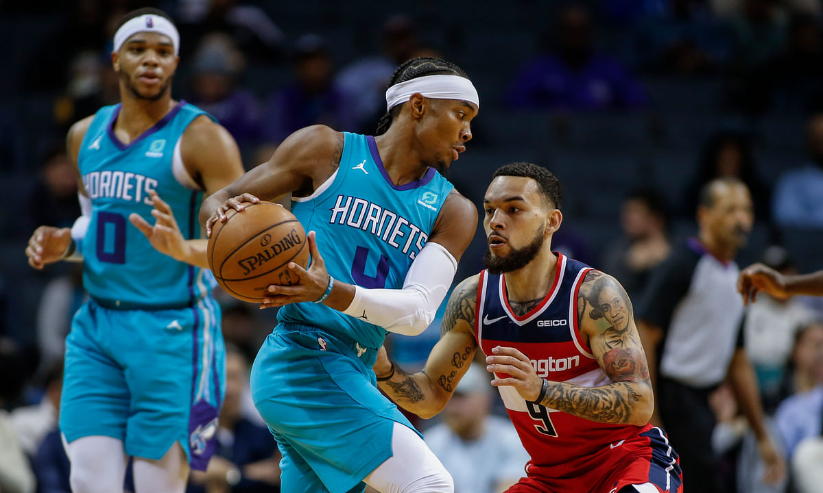 Charlotte Hornets guard Devonte' Graham, needs to put up numbers with Ball, Hayward and Monk out.