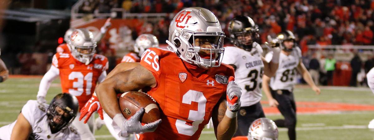 Utah wide receiver Demari Simpkins (3) runs back a 66 yard punt return in the second half during an NCAA college football game against Colorado Saturday, Nov. 30, 2019, in Salt Lake City. (AP Photo/Rick Bowmer)