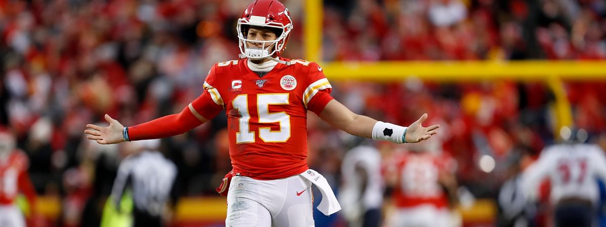 The Chiefs' Patrick Mahomes has not thrown an interception in four career postseason games