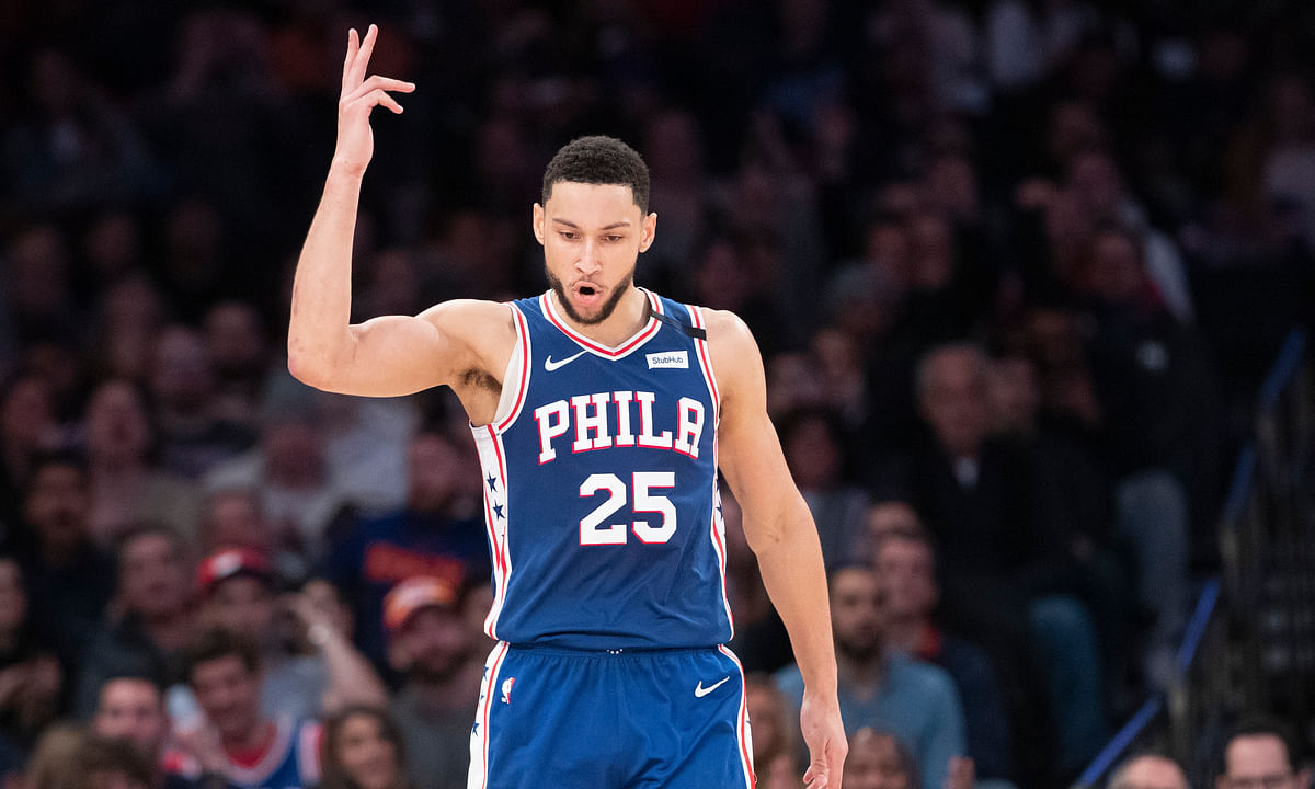 This is Ben Simmons, thinking about a triple-double.