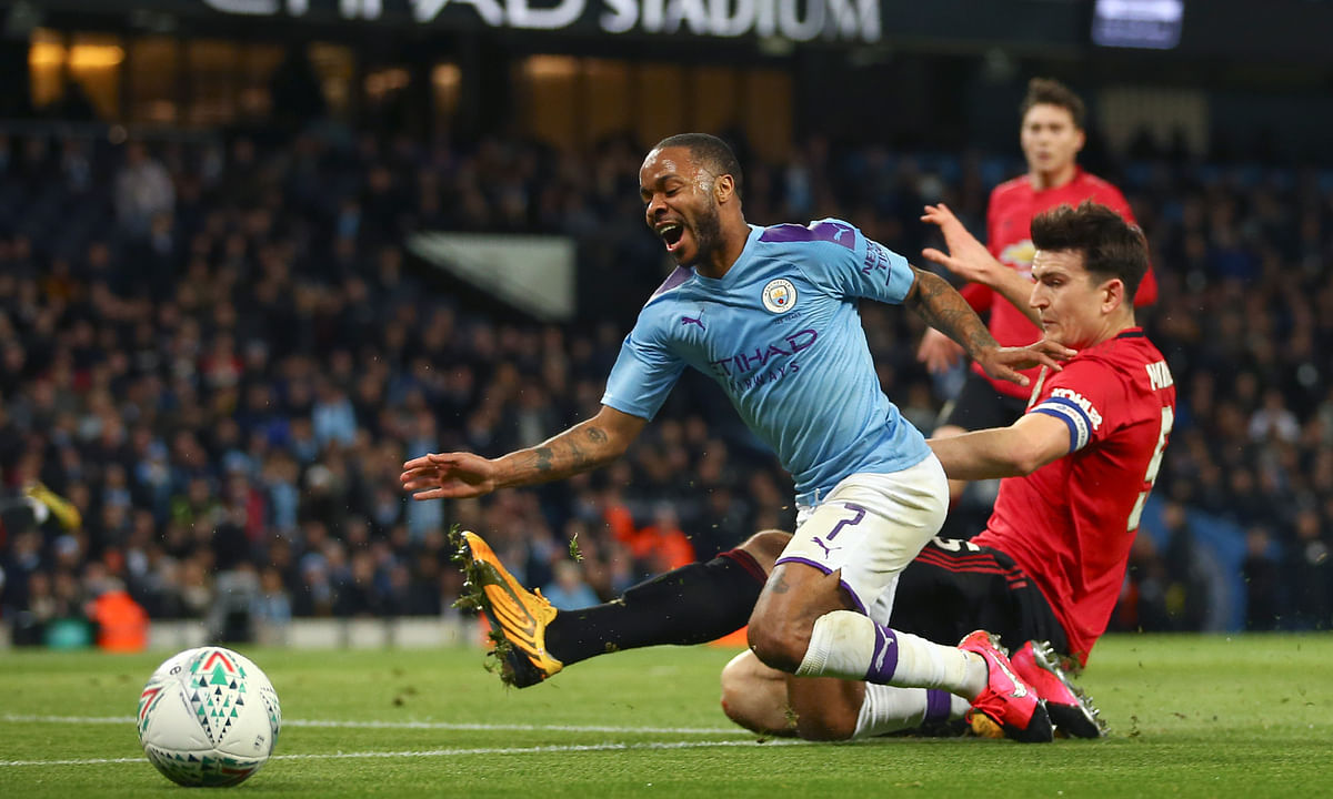 """Soccer injury: Manchester City's Raheem Sterling to miss """"weeks or months"""" with damaged left hamstring"""