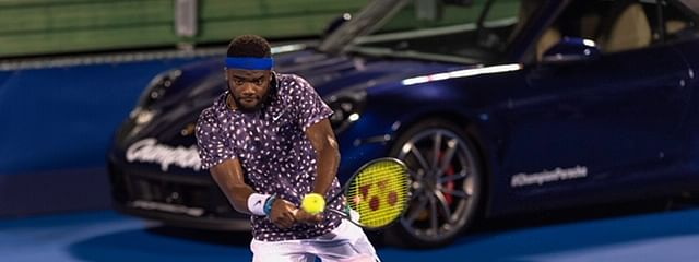 Frances Tiafoe battles Tommy Paul today in Delray.