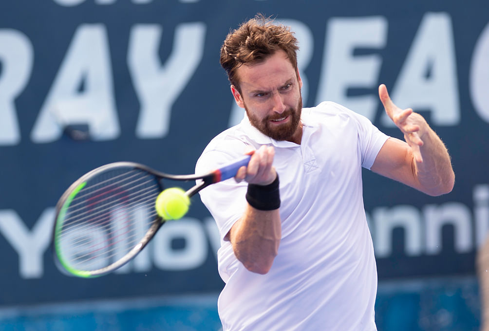 Ernests Gulbis takes the court today against 7-foot American Reilly Opelka.