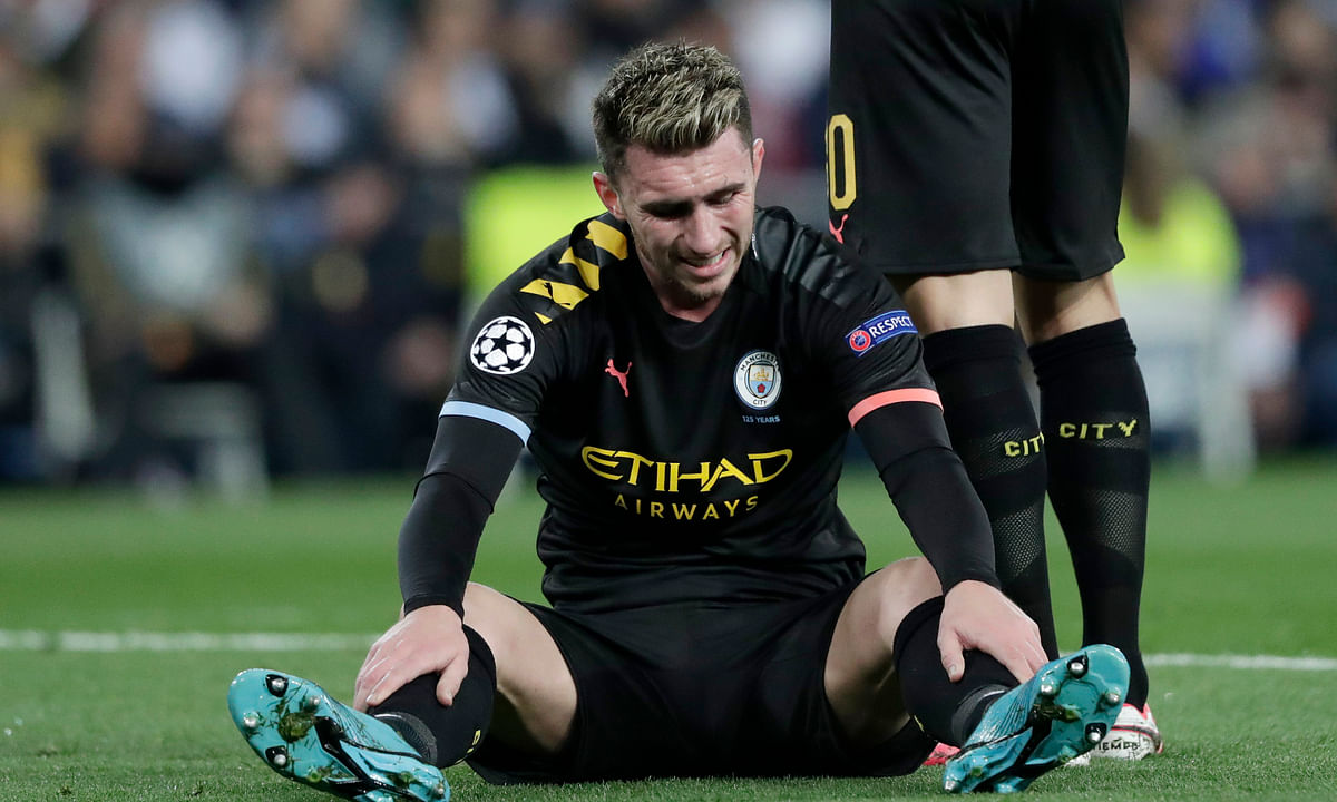 Injury alert: Manchester City could be without Aymeric Laporte for up to a month with a hamstring issue