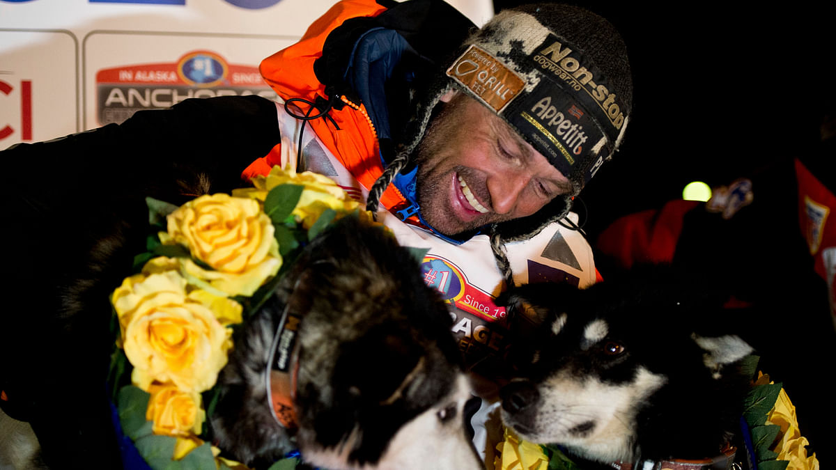 Good Dogs! Norwegian musher Thomas Waerner wins Alaska's Iditarod sled dog race