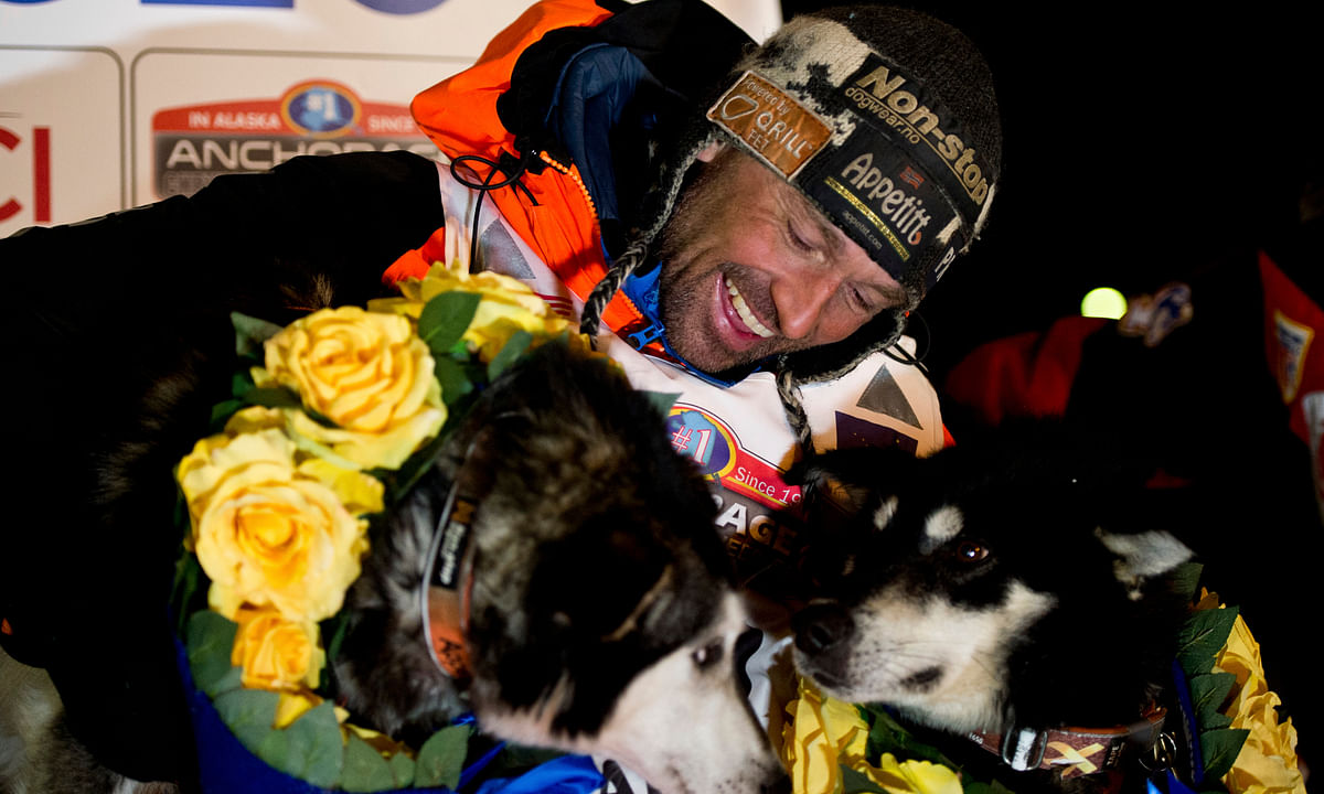 Good Dogs! Norwegian musher Thomas Waerner wins Alaska's Iditarod sled dog race