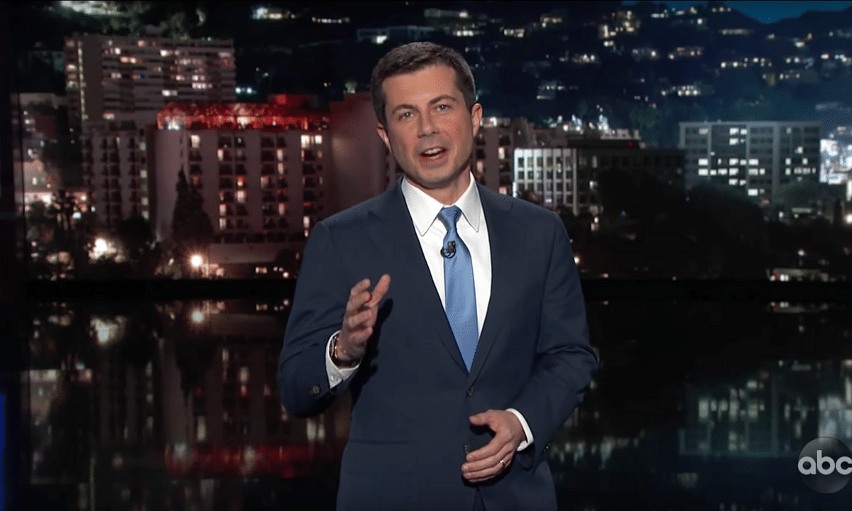 Former Mayor and presidential hopeful Pete Buttigieg hosts 'Jimmy Kimmel Live'