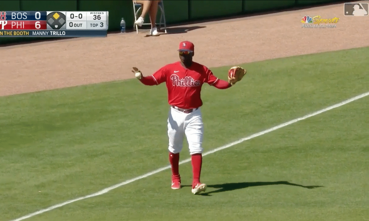 Video: Highlights from the Phillies 10-2 win over the Red Sox — including a two-run double from J.T. Realmuto