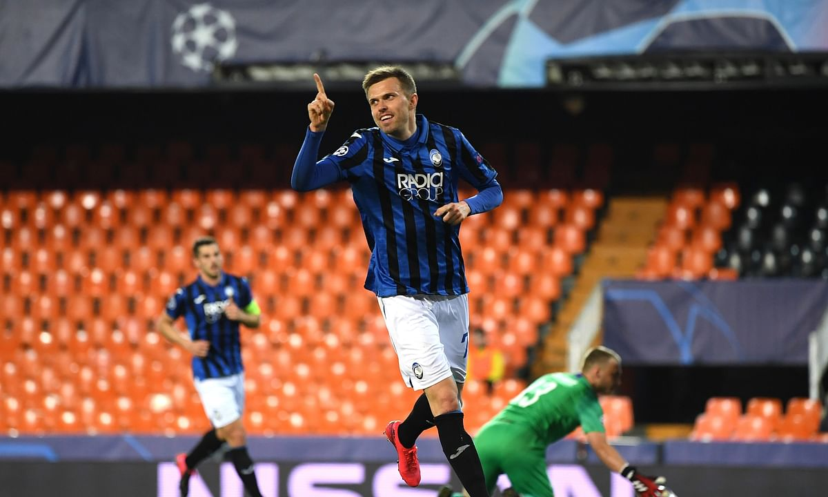 Josip Ilicic scores 4 goals as Atalanta tops Valencia to reach Champions League quarters