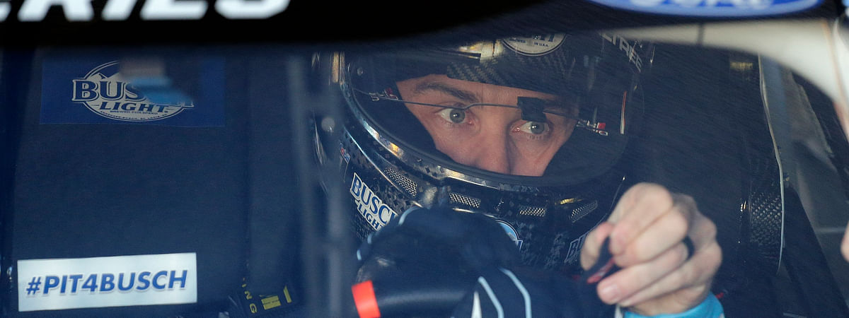 Kevin Harvick gets ready to go out on the track during a NASCAR auto race practice at Daytona International Speedway, Saturday, Feb. 8, 2020, in Daytona Beach, Florida.