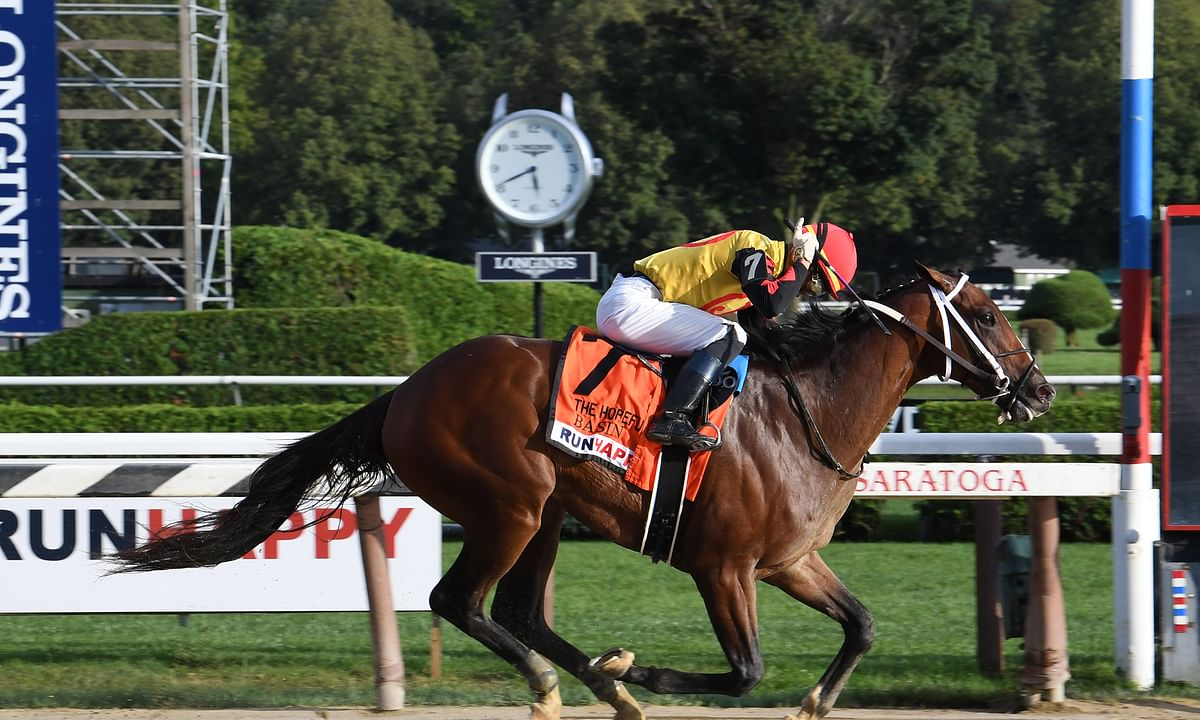 Garrity's Saturday Stakes picks are at Aqueduct, Gulfstream, Santa Anita and Turfway Park, highlighted by Oaklawn's Rebel, a Derby prep