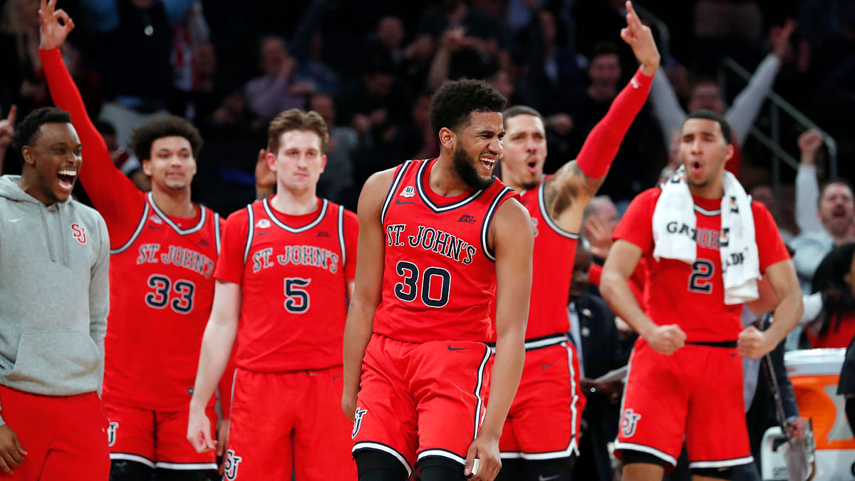 Big East cancels tournament at halftime of Creighton vs St. John's with St. John's looking to pull the upset. A10 also calls off tourney
