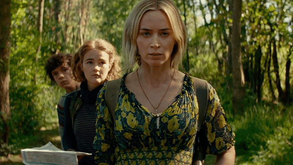 "Emily Blunt stars in ""A Quiet Place II,"" whose opening is being postponed because filmgoers are looking for their own quiet places."
