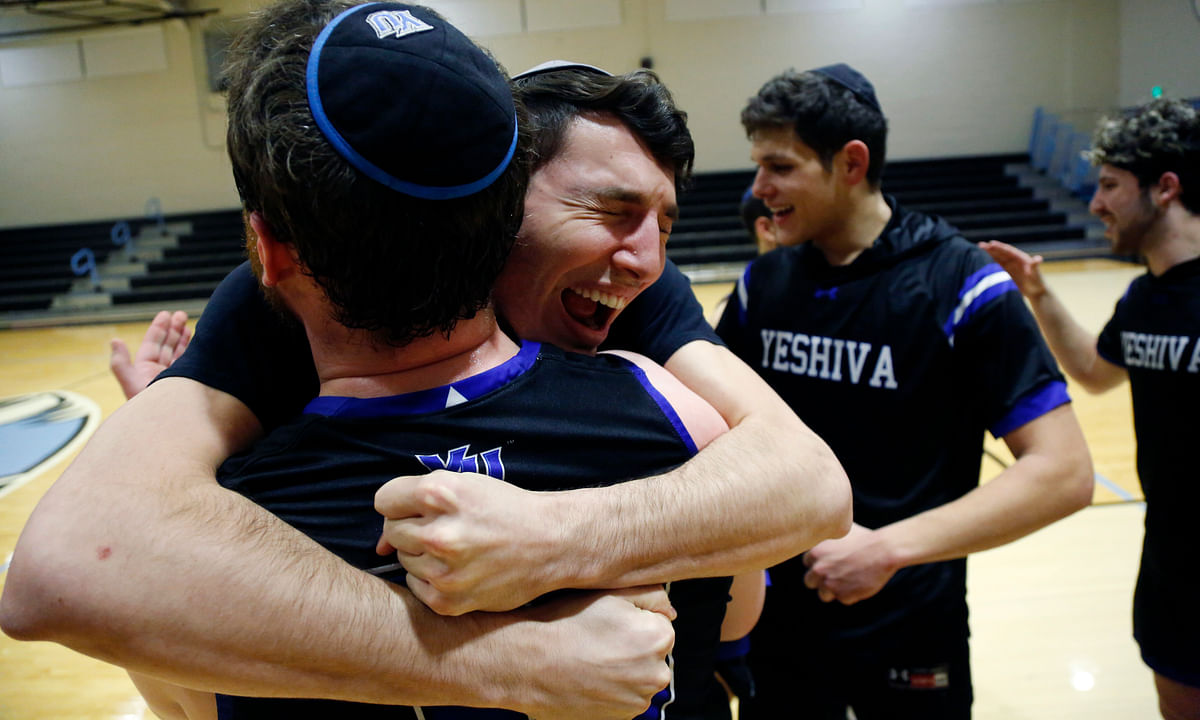 Mazel Tough: Yeshiva basketball tops Penn State Harrisburg in a 102-83 empty gym shootout to reach first DIII Sweet 16