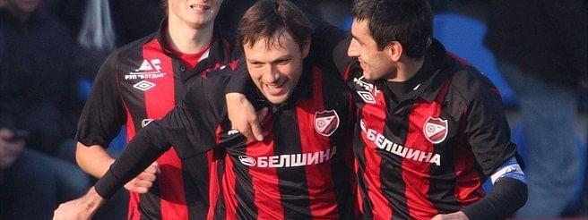 FC Belshina Bobruisk in a good mood.