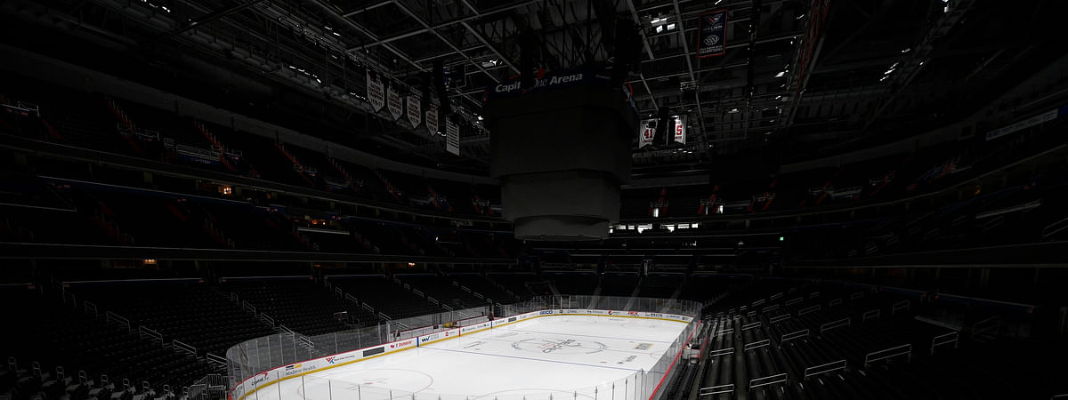 Capital One Arena, home of the Washington Capitals, sits empty on March 12 (Nick Wass)