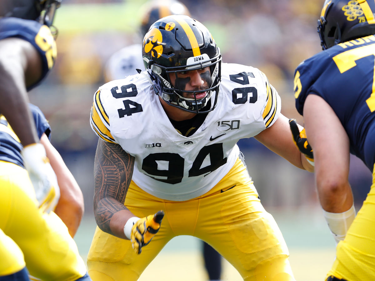 NFL Draft: Eckel, with an NFL exec, breaks down the top 10 interior defensive linemen available — including Iowa defensive end A.J. Epenesa