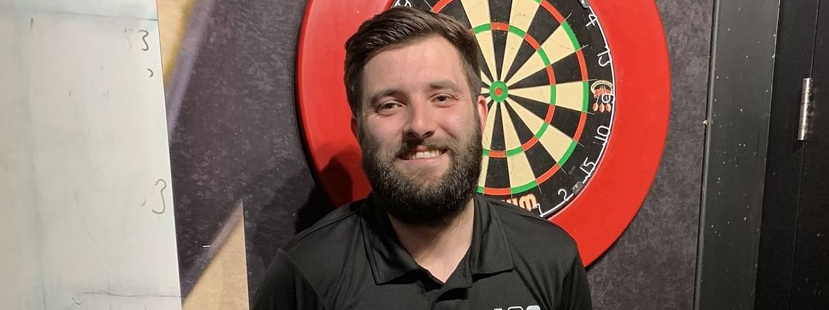 Jason Askew as he defeats Andy Jenkins 5-3 with EIGHT 180s and a 99 average in April, 2020