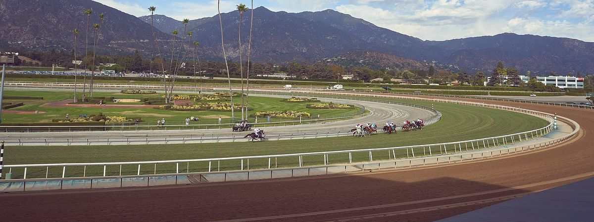 Racing at Santa Anita Park