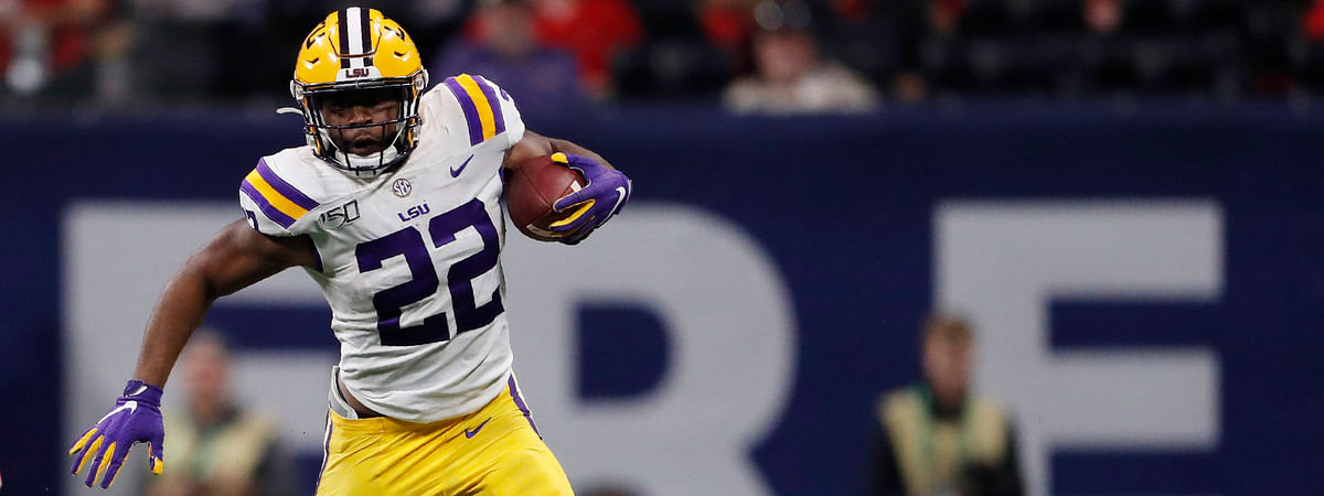 LSU running back Clyde Edwards-Helaire in the 2019 SEC Championship game against Georgia