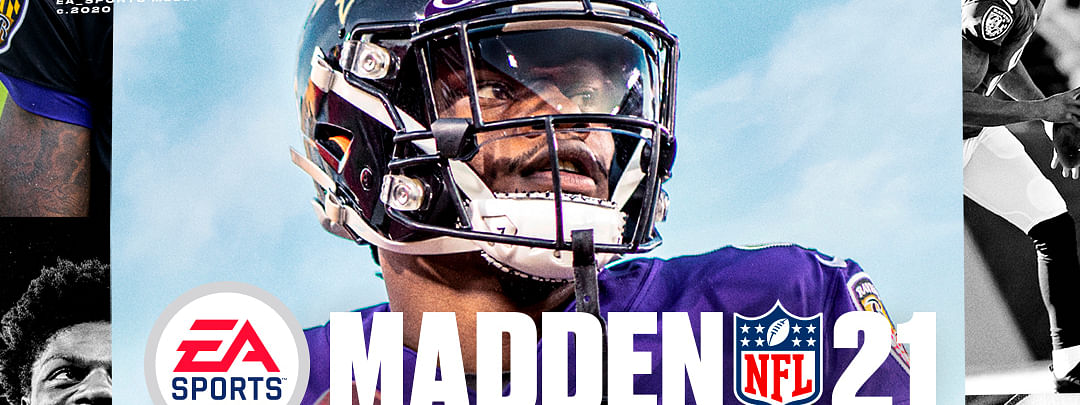 This image provided by EA Sports shows the cover of the Madden 21 video game, featuring Baltimore Ravens quarterback Lamar Jackson, which will be released in August.