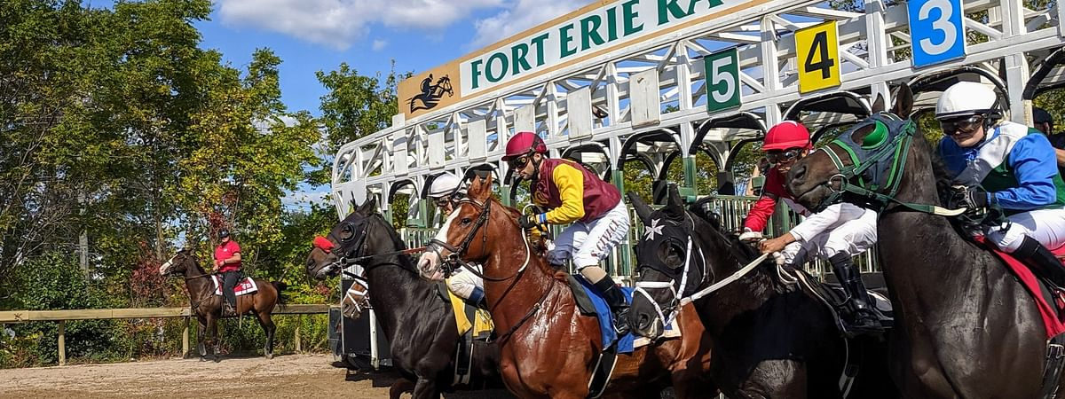 Racing at the Fort Erie Race Track