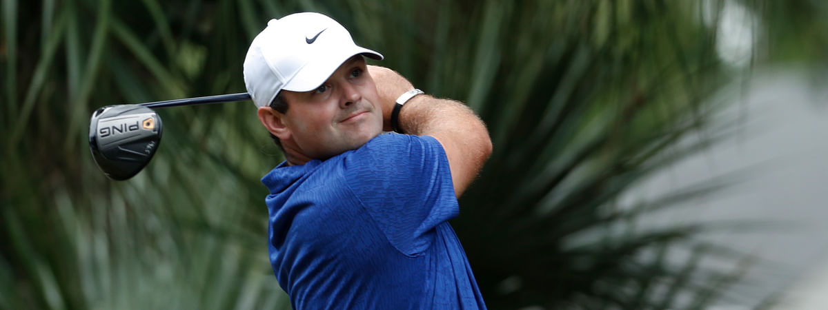 Patrick Reed hits from the 11th tee during the first round of the RBC Heritage golf tournament, Thursday, June 18, 2020, in Hilton Head Island, S.C.