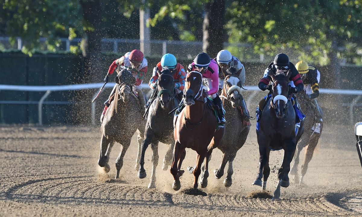 Kentucky Derby favorite Tiz the Law, in front in the Champagne, races today in the Runhappy Travers at Saratoga.