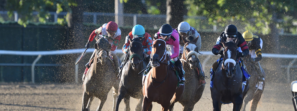 Will Tiz the Law, in front in the Champagne, help lead Chris Garrity to this week's handicapping contest victory?