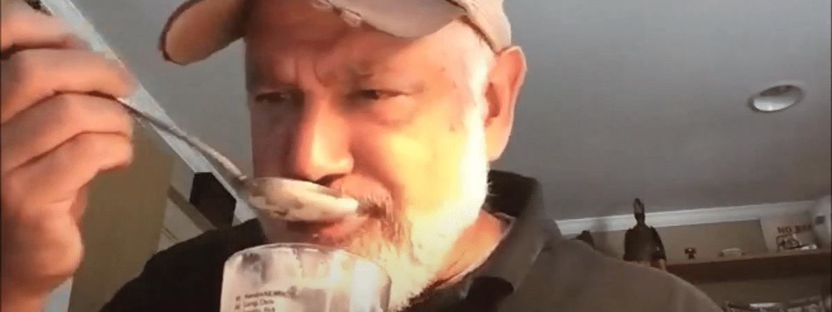 Glen Macnow sampling beer ice cream