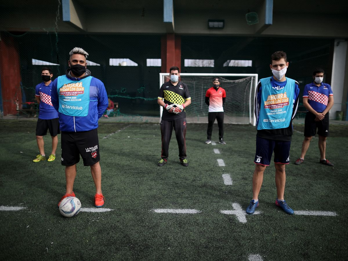 Human foosball - Does Vegas have a line on this yet? New form of soccer developed for pandemic