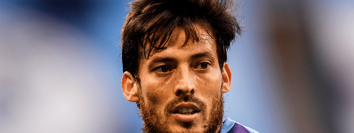 Manchester City's David Silva during the English Premier League soccer match between Manchester City and Bournemouth at the Ethiad Stadium in Manchester, England, Wednesday, July 15, 2020.