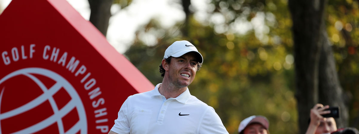 In this Sunday, Nov. 3, 2019, file photo, Rory McIlroy of Northern Ireland looks out after teeing off for the HSBC Champions golf tournament at the Sheshan International Golf Club in Shanghai. China has canceled all sporting events, such as golf and tennis, for the rest of 2020 because of the coronavirus.