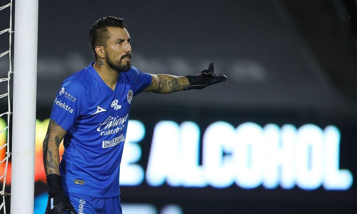 Mazatlan FC goalkeeper Fraga in action