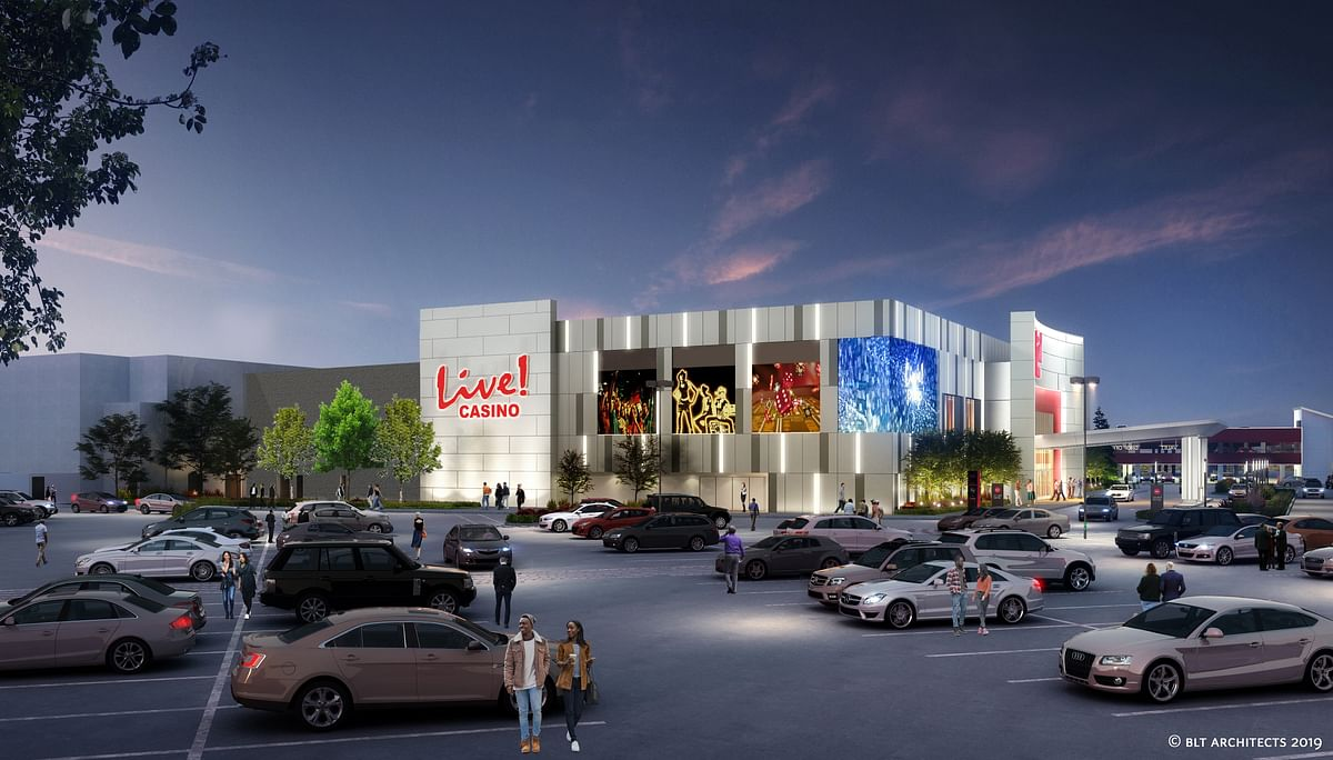 The architect's rendering for the Pittsburgh Live! Casino.
