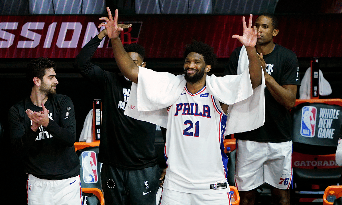 BoopProps expects Sixers center Joel Embiid to celebrate a big game tonight.