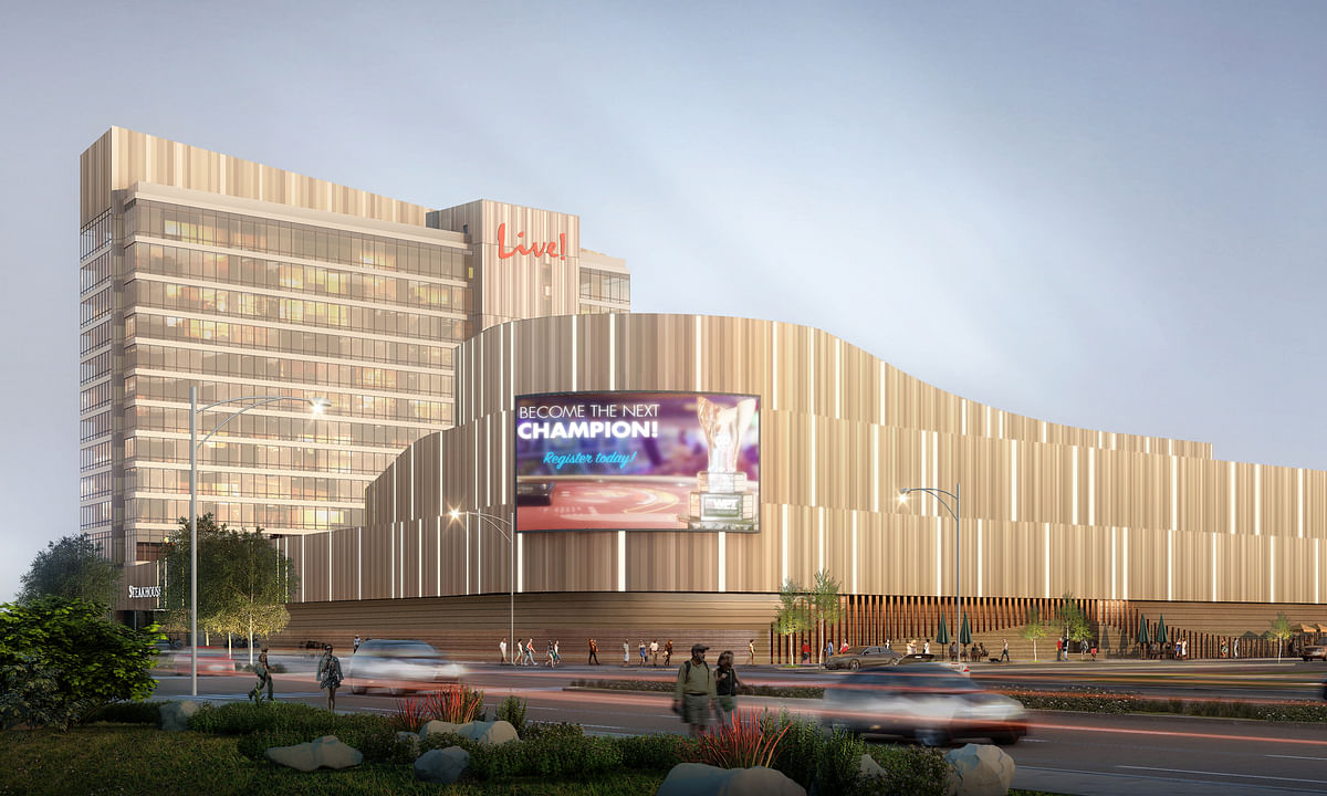 An architect's rendering of Live! Resort and Casino Philadelphia.